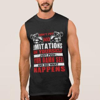 Camiseta Sin Mangas No se limite los tanques de la motivación del