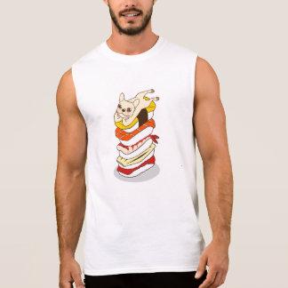 Camiseta Sin Mangas Noche japonesa del sushi para el dogo francés