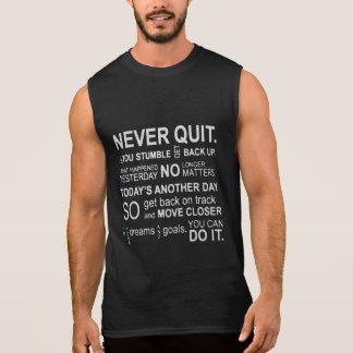 Camiseta Sin Mangas Nunca abandone los tanques de la motivación del