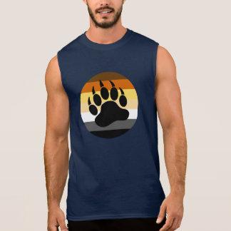 Camiseta Sin Mangas Pata de oso en el círculo del orgullo del oso