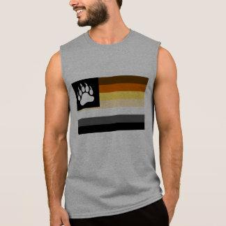 Camiseta Sin Mangas Pata de oso gay de la bandera del orgullo del oso