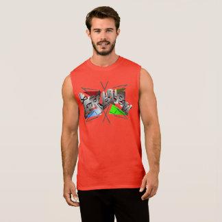 Camiseta Sin Mangas Skater Baumwoll Shirt en Rojo
