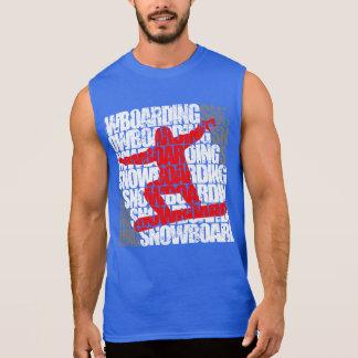 Camiseta Sin Mangas Snowboard #1 (blanca)