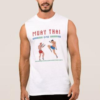 Camiseta Sin Mangas Tailandés de Muay del pixel