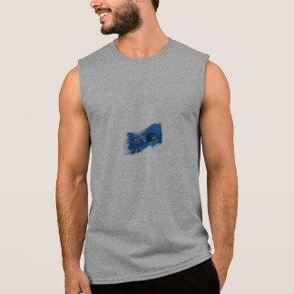 Camiseta Sin Mangas Tapa del tanque para hombre del atún amarillo de