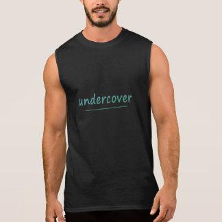 Camiseta Sin Mangas Texto brillante secreto divertido de la turquesa