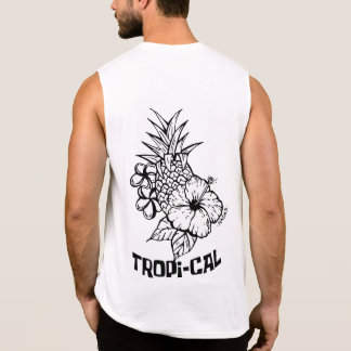 Camiseta Sin Mangas Tropical por Mikka Lastro