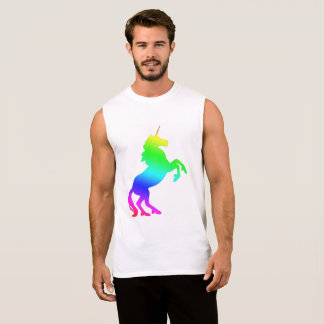 Camiseta Sin Mangas Unicornio del arco iris