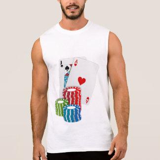 Camiseta Sin Mangas Veintiuna con las fichas de póker