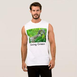 Camiseta Sin Mangas verde que va