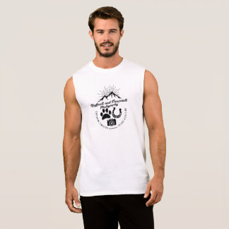 Camiseta Sin Mangas Vintage sin mangas de Hoofbeats y de Pawprints de