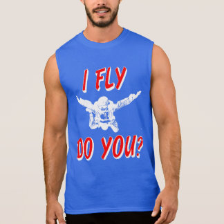 Camiseta Sin Mangas ¿Vuelo, hace usted? (blanco)