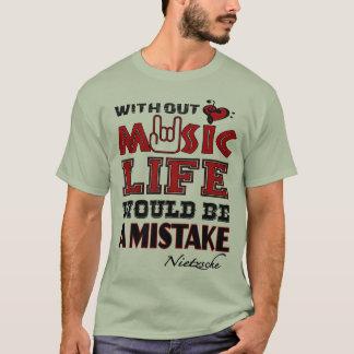 Camiseta Sin música la vida sería un error, Nietzsche