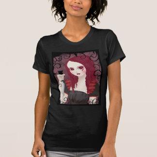 Camiseta siniestra de las señoras del negro del