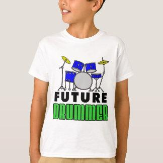 Camiseta Sistema azul del tambor del batería futuro