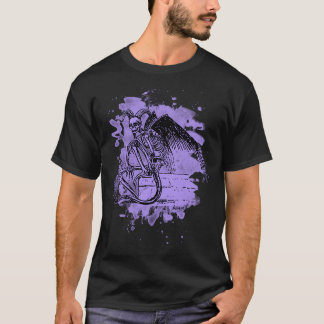 Camiseta Sitting Demon - bleached violet