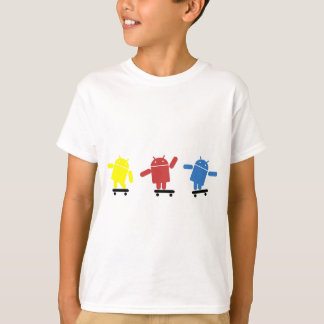 Camiseta Skater androide coloreado multi
