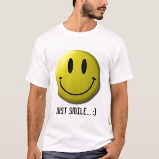 Camiseta smiley-cara, apenas sonrisa…:)