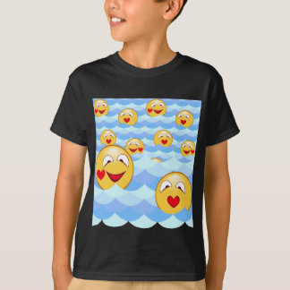 Camiseta Smiley de la onda