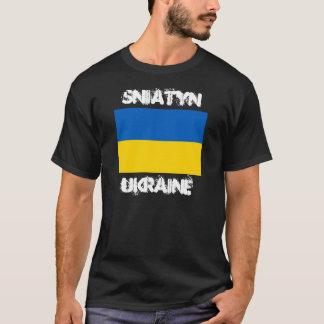 Camiseta Sniatyn, Ucrania con la bandera ucraniana