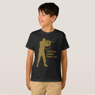 Camiseta snipper de la soldadura del oro