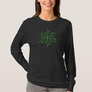 Camiseta Snowflake Geek - Green USB