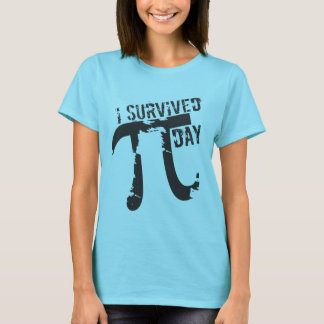 Camiseta Sobreviví el día del pi - día divertido del pi