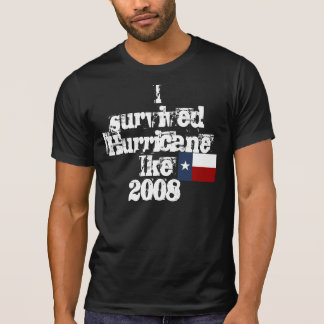 Camiseta Sobreviví el huracán Ike2008