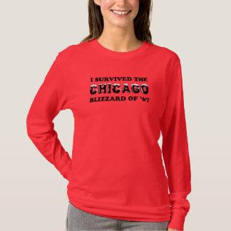 Camiseta Sobreviví la ventisca de Chicago de 1967.