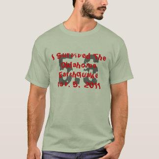 Camiseta Sobreviví Oklahoma terremoto el 5 de noviembre de