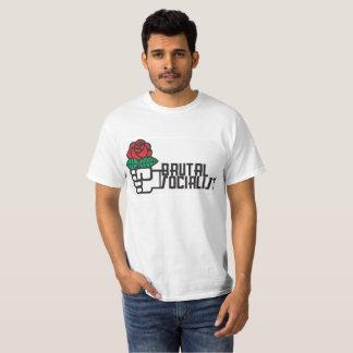 Camiseta socialista brutal del valor
