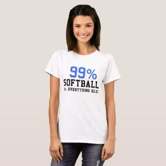 Camiseta Softball el 1% del 99% todo