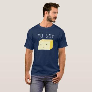 Camiseta Soja de Yo con el cubo del queso de soja