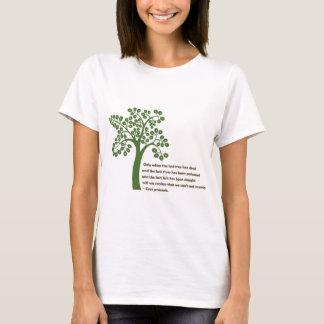 Camiseta Solamente cuando el árbol pasado