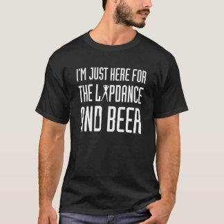 Camiseta Soltero apenas aquí para el Lapdance y la cerveza