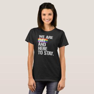 Camiseta Somos gay y aquí permanecer - - LGBTQ endereza - -
