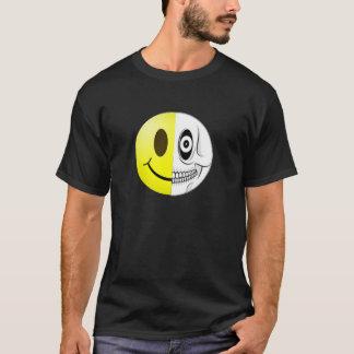 Camiseta sonriente del cráneo