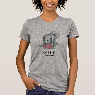 Camiseta SONRISA para la cámara del vintage