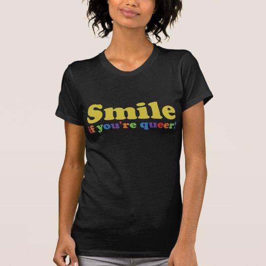 Camiseta Sonrisa si usted es raro