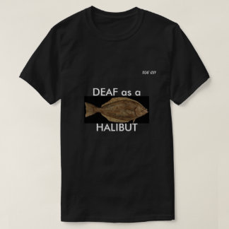Camiseta SORDO como HALIBUT en negro