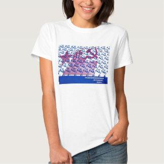 camiseta soviética de la hembra de la propaganda