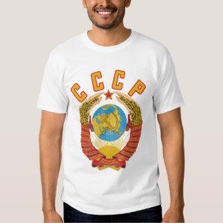 Camiseta soviética del escudo de armas CCCP