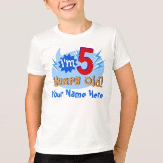 Camiseta ¡Soy 5 años! (Personalice con el nombre del niño)