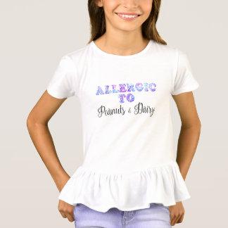 Camiseta Soy alérgico a los CACAHUETES y a la LECHERÍA