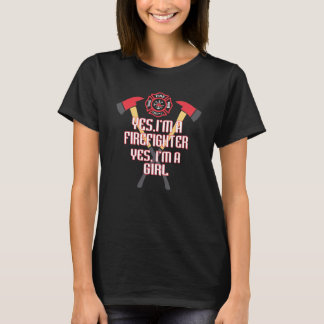 Camiseta Soy bombero y un chica
