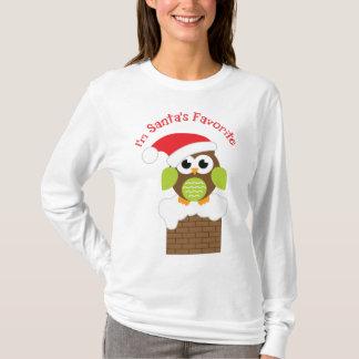 Camiseta Soy el búho preferido de Santa