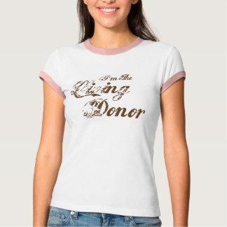 Camiseta Soy el donante vivo - marrón del vintage