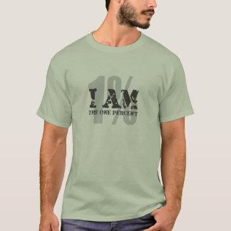 Camiseta ¡Soy el un por ciento! el 1%