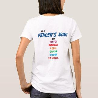 Camiseta ¡Soy la momia de un cercador! Camiseta, señoras