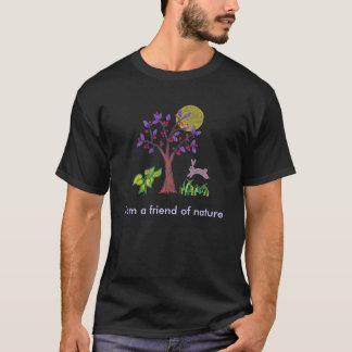 Camiseta Soy un amigo de la pintura de la naturaleza y cita